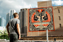 "SHEPARD FAIREY ""WE OWN THE FUTURE"""