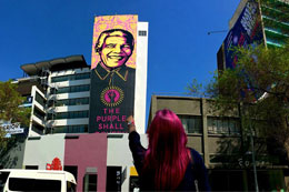 SHEPARD FAIREY IN SOUTH AFRICA, 'MADIBA'