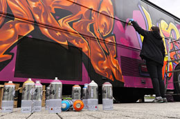 """GRAFFITI CITY BUS"""