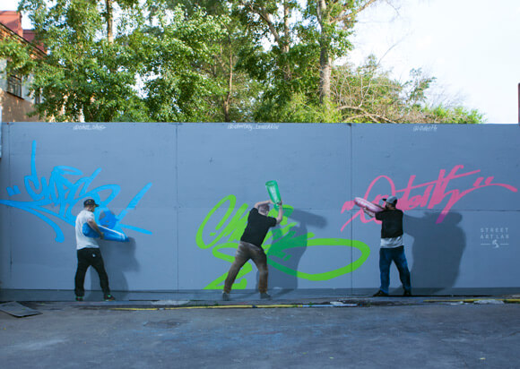 CHES, MOUK & ODEITH: STREET PAINT MARKERS