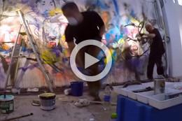 GOUGE & LAJOZZ, ACTION PAINTING