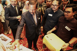 THE BRUNEI SULTAN WITH MTN 94