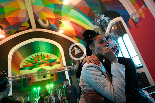 OKUDA PAINTS THE INTERNATIONAL CHURCH OF CANNABIS
