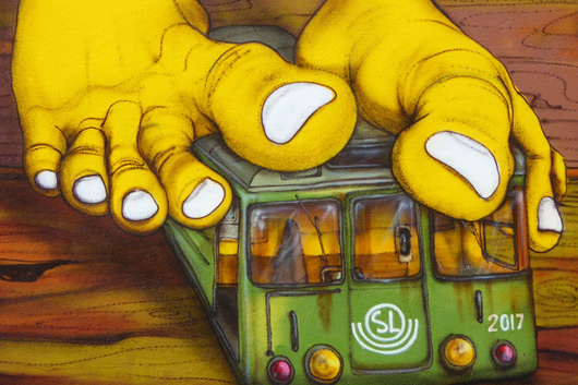 THE SECRETS HIDING BEHING OS GEMEOS ARTWORK IN STOCKHOLM