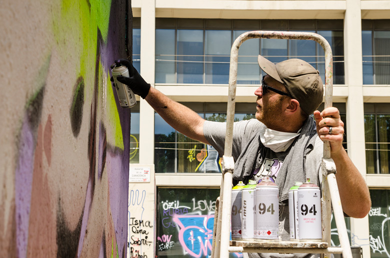 Dvate in action for Face 2 Face project by Montana Colors in Barcelona