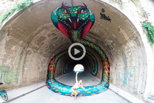 SPAIK TRANSFORMS A TUNNEL IN IBIZA
