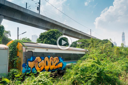 'LOST IN PARADISE', GOOZ IN A TRAIN GRAVEYARD IN BANGKOK