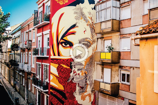 """THERE IS ALWAYS MORE TO DO"" SHEPARD FAIREY REVOLUTIONIZES LISBON"