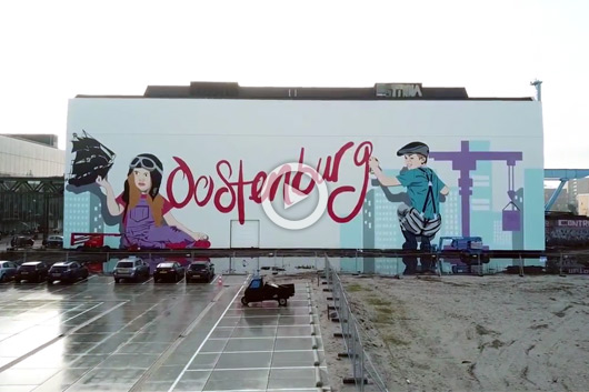 'OOSTENBURG', THE BIGGEST MURAL IN AMSTERDAM