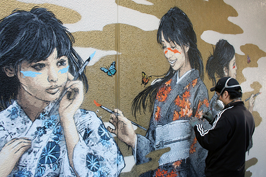 A BEAUTIFUL NEW WALL BY ROAMCOUCH IN JAPAN