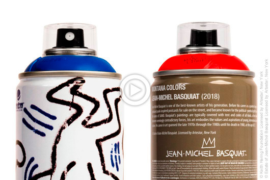 JEAN-MICHEL BASQUIAT & KEITH HARING SPRAY CANS