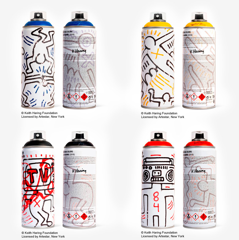 Keith Haring Spray Cans by Montana Colors and Beyond the Streets