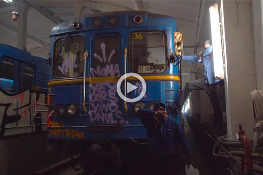 TSK CREW AT KIEV SUBWAY