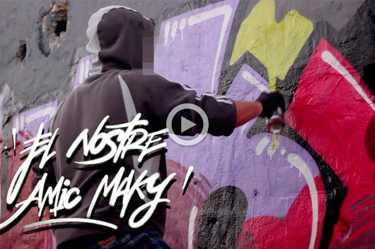 """OUR FRIEND MAKY"" THE HOMAGE BY GRAFFMAPPING"