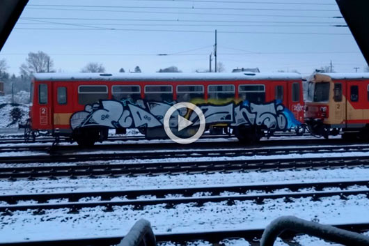 'TAKE IT EASY #2', HUNGARIAN TRAINWRITING IN ITS PRIME