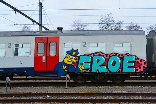 COVERING TRAINS WITH CHARACTERS. INTERVIEW WITH FROE