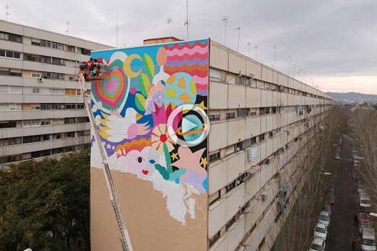 "ZOSEN AND MINA BRING COLOR TO ""LA MINA"", IN BARCELONA"
