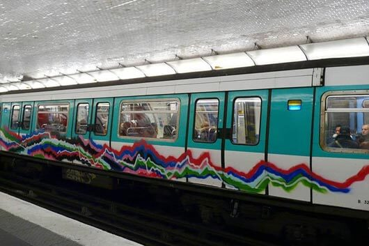 ABSTRACT GRAFFITI INVADES THE PARIS SUBWAY
