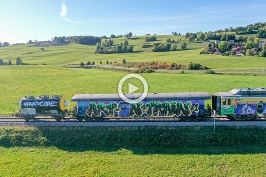 FORMIDABLE GRAFFITI FESTIVAL ON TRAINS IN FRANCE