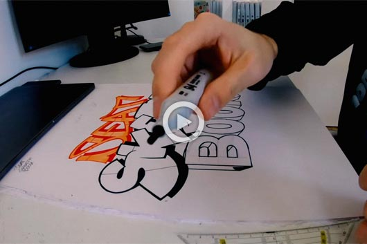 HOW TO DO A GRAFFITI  SKETCH BY RAWS