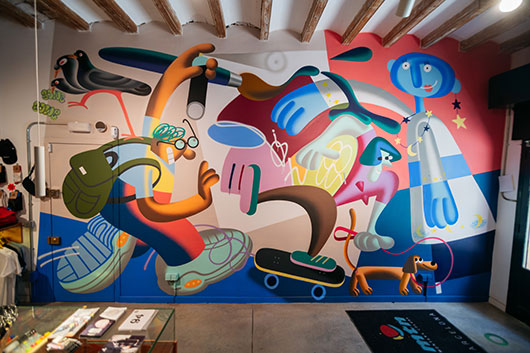 A NEW SAWE MURAL AT MONTANA SHOP BARCELONA-GRACIA